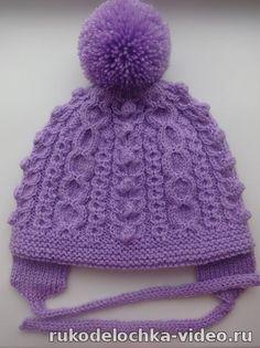 Двойная шапочка со жгутами. Вязание на спицах - 2 Декабря 2015 - Видеоуроки по вязанию и шитью Натальи Зайцевой