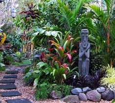 How to Create a Tropical Garden - Palmers Garden Centre - The tropical garden c. - How to Create a Tropical Garden – Palmers Garden Centre – The tropical garden crosses boundari - Bali Garden, Balinese Garden, Diy Garden, Garden Pots, Garden Bed, Garden Ideas Nz, Vegetable Garden, Small Tropical Gardens, Coastal Gardens