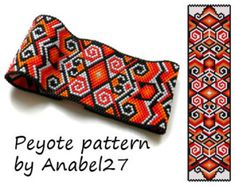 Peyote pattern 48 beading pattern peyote by ColorfulBeadPatterns