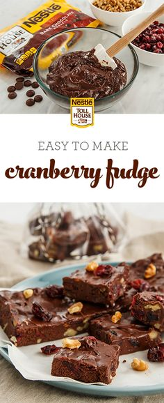 Fudge may not be your go-to recipe for a quick dessert, but this easy Cranberry Fudge is sure to change your mind. Full of fresh cranberries and crunchy nuts, this fudge only takes three steps. Grab this simple recipe for a tasty, chocolatey treat.