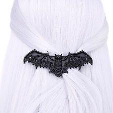 Restyle Fledermaus Haarspange, schwarz, Gothic, Larp, okkulter Schmuck
