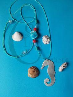 Tina's Creations - Handmade Jewels & More!: 13€/15€ Αλογακι της θάλασσας κρεμαστό & βραχιόλι /...