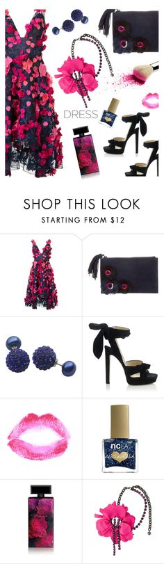 """So Pretty: Dreamy Dresses"" by annbaker ❤ liked on Polyvore featuring Notte by Marchesa, Loeffler Randall, Jimmy Choo, Topshop, ncLA, Elizabeth Arden, Lanvin and dreamydresses"