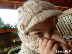 bonnet et snood tricot enfant