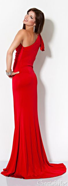 JOVANI - Slinky Red Gown