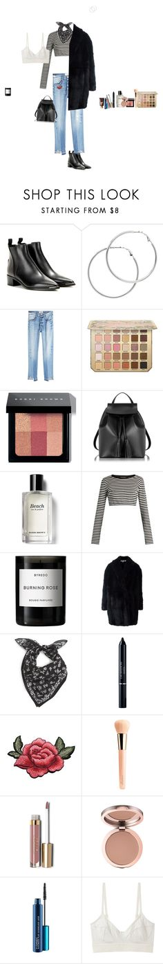"""""""Untitled #162"""" by emmaszalay ❤ liked on Polyvore featuring Acne Studios, Melissa Odabash, Frame, Bobbi Brown Cosmetics, Le Parmentier, Dolce&Gabbana, Byredo, Alexander McQueen, rag & bone and Christian Dior"""