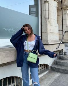Aesthetic vintage art hoe trendy casual cool edgy grunge outfit fashion style idea ideas inspo inspiration for school for women winter summer baggy jacket tank top Mode Outfits, Retro Outfits, Trendy Outfits, Vintage Outfits, Girl Outfits, Fashion Outfits, Aesthetic Fashion, Aesthetic Clothes, Look Fashion
