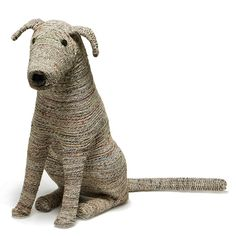 Meticulously crafted from thin strands of woven, recycled newspaper, and finely shaped like an actual obedient and loyal puppy, the Rover from design company Roost sits well in your home as an enchanting piece of homespun design or even as an imaginary guard over your children's bedroom. Tail and ears are flexible enough to flap and wag. Entirely eco-friendly.