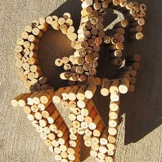 Love these neat DIY wine cork letters. I originally planned on making a corkboard out of left over wine corks, however now there has been a change of plans! This will be my next project.
