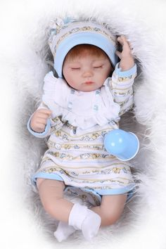 62.10$  Buy here - http://ali56b.worldwells.pw/go.php?t=32684330637 - Adora 17 Inch 43 Cm Mini Reborn Silicone Sleeping Girl Doll Hot Sell Baby Dolls For Girls Best Christmas Gift For Babies As Toys 62.10$