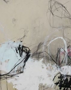 In his painting, the boundaries of reason, NC artist Jason Craighead dials white from blinding bright to fawny softness. Hung on a backdrop of Benjamin Moore's Simply White walls, paired with bleached white floor boards and snowy leather? That's it.