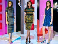 Nieves Alvarez In Loewe, Burberry Prorsum & Elie Saab – Solo Moda