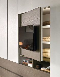 Best 10 Impressive and Innovative 15 Modern Bedroom Cabinet – SkillOfKing. Bedroom Wardrobe, Bedroom Closet Design, Wardrobe Design Bedroom, Bedroom Interior, Bedroom Built Ins, Tv In Bedroom, Wardrobe Room, Home Interior Design, Living Room Designs