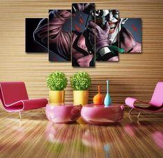 Batman The Killing Joke DC Comics Home Office Decor 5 Panel Wall Art (50% Off + FREE Shipping) - FanFaire