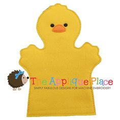 Chick Hand and Finger Puppet In The Hoop by TheAppliquePlace, $4.00