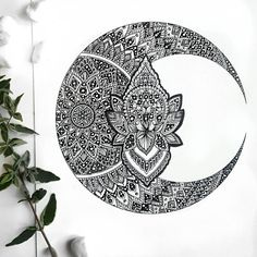 Check out this item in my Etsy shop https://www.etsy.com/uk/listing/488143192/lotus-crescent-moon-mandala-zentangle