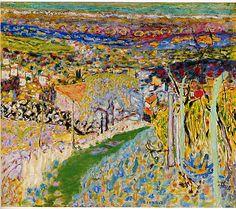 Landscape in the South (Le Cannet) Pierre Bonnard (French, Fontenay-aux-Roses 1867–1947 Le Cannet)