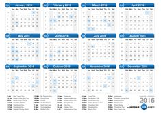 Get latest 2016 calendar printable & template online for free. We have also shared the list of 2016 calendar holidays from where you can plan…