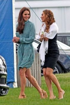 Catherine and a friend at one of Prince William and Harry's polo matches for charity 5/13/12. #Kate #Middleton