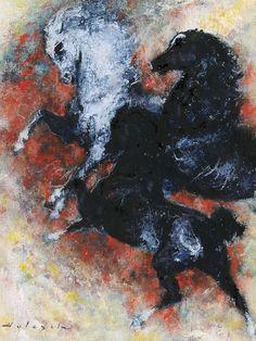 HOLESCH DÉNES (1910-1983) - Horses