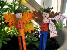 Clothespin fairies