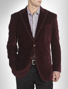 "Just $89.99 & Free Ship !! Wine Burgundy Velvet Sport Coat by ""TALLIA ORANGE"" - 52R - NEW/NWT *$398 RETAIL* #TalliaOrange #SportCoatBlazer"