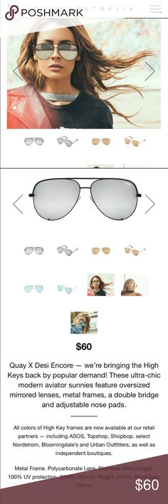 b734e9e7cc Quay High Key Sunglasses in Black Silver Quay x Desi Encore High Key  Sunglasses.