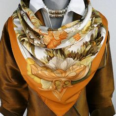 Authentic Vintage Hermes Silk Scarf Tahiti Early Issue