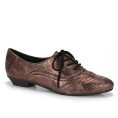 Sapato Oxford Feminino Pensatto 1420520N - Bronze