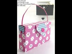 How to create this cute clutch bag (a great gift bag for treats) using the envelope punch board. gift bags, purs, envelope board punch, paper, envelop punch, card, box, bag tutorials, clutch bags