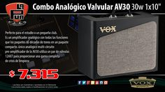 "La Púa San Miguel: Combo Analógico Valvular VOX AV30 30w 1x10"""