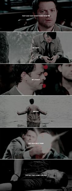 They can take everything from me, but not you. Not you too.   #spn #destiel