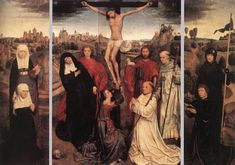 Triptych of Jan Crabbe by @artistmemling #northernrenaissance