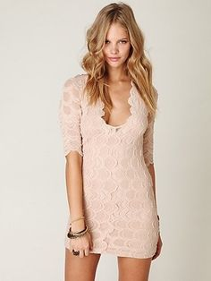Nightcap Lace Bodycon Dress at Free People Clothing Boutique - StyleSays