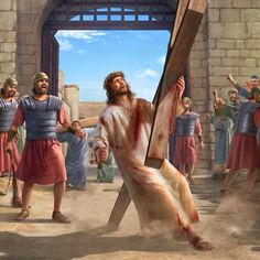 """What is the meaning of Jesus Christ on the cross saying """"It is finished""""? Why does the Bible say that the Lord Jesus will appear in the last days to save man? Jesus Christ Painting, Jesus Artwork, Jesus And Mary Pictures, Pictures Of Jesus Christ, Bible Images, Jesus Christ Images, Jesus Crown, Heaven Art, Jesus Photo"""