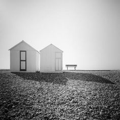 Beach Huts Study France 2018 - Black and white long exposure fine art photography. Selenuim toned gelatin silver prints, limited, signed and numbered editions in museum quality. Horse Photography, Fine Art Photography, Landscape Photography, Minimalist Landscape, Contemporary Landscape, Panorama Camera, Black And White Landscape, Beach Landscape, Black And White Photography