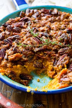 Simple Sweet Potato Casserole with a Crunch Pecan Crumble