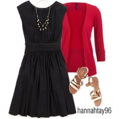 """""""Red & Black"""" by hannahtay96 on Polyvore"""