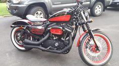 bobbers share on pinterest | 2012 Harley-Davidson® XL883N Sportster® Iron 883™ (black/red ...