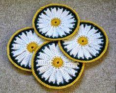 Posavasos circular al crochet - con diagrama y paso a paso en fotos | Crochet y Dos agujas