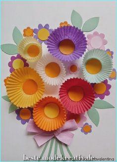 Fantastische Süßes Cupcake Liner Flower Bouquet Craft  #crafts #cupcake #dennoch #einfache #kostengunstige #liner #lustige