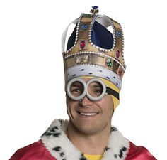 Rubies Mens Minion King Crown Multi One Size ** Click image to review more details-affiliate link.
