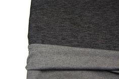 Black Knit Denim Fabric 39 inches length ATK00223