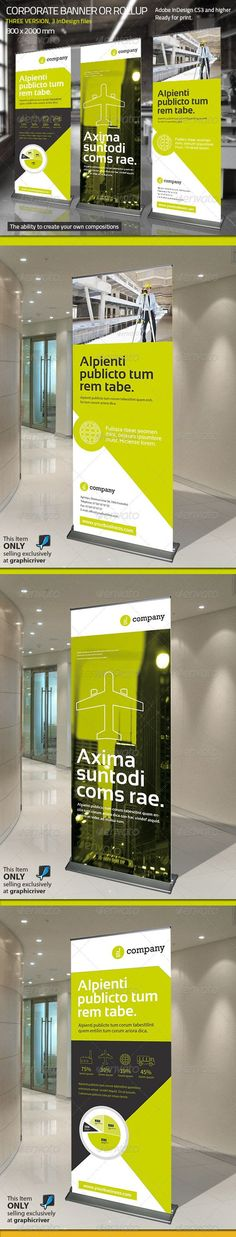 Corporate Banner or Rollup Template #design Download: http://graphicriver.net/item/corporate-banner-or-rollup-vol-6/7735014?ref=ksioks:
