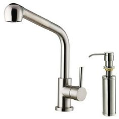 Vigo Avondale Stainless Steel 1-Handle Pull-Out Deck Mount Kitchen Faucet Vg02019stk2