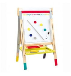 The best of french toys! Buy the Janod - Height Adjustable Black/White Board Easel on sale Now Tableau Double Face, Graffiti, Winter Fairy, Alphabet Print, Kids Fashion Boy, Blackboards, Wooden Tables, Holiday Gift Guide, Felt
