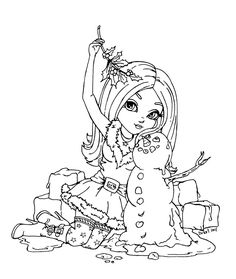 This lineart was made for Posing ref. from an old Xmas picture with lost link To see more Cutie Pie :