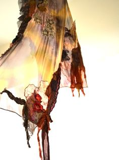 Romantic bohemian style vintage Scarf/ shawl by Grazim on Etsy, $90.00