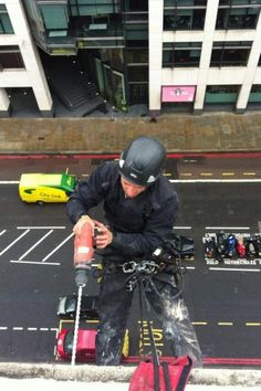 By using rope access/abseilers the lead time for your task is greatly decreased. There is no waiting time for scaffold permits & set up time.