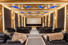 This movie screening room is one of many luxury resort-style amenities that make the 48,000-square-foot-home unique